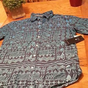 NWT men's casual button-down shirt size L it measu